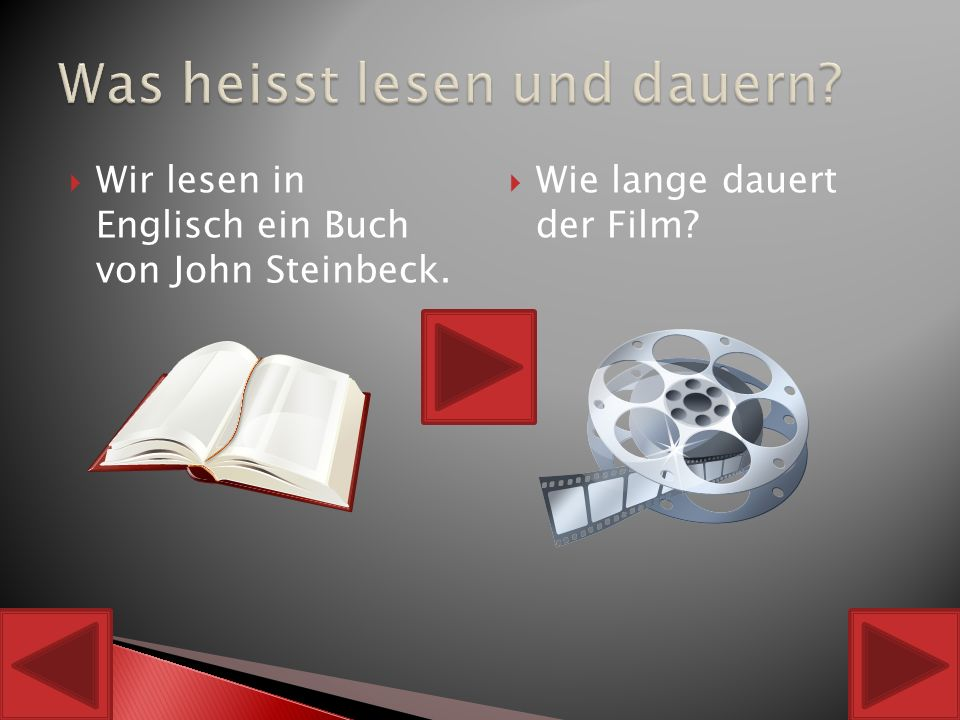  To like (Der Film gefaellt mir gut – I like the film) To say (Meine Mutter sagt mache deine Hausaufgaben – my mother says do your homework)  To swim (Ich schwimme gern – I like to swim) To dance (Das deutsche Maedchen tanzt – The German girl is dancing)