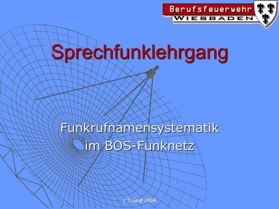 c S.Graf 2004 Sprechfunklehrgang Funkrufnamensystematik im BOS-Funknetz