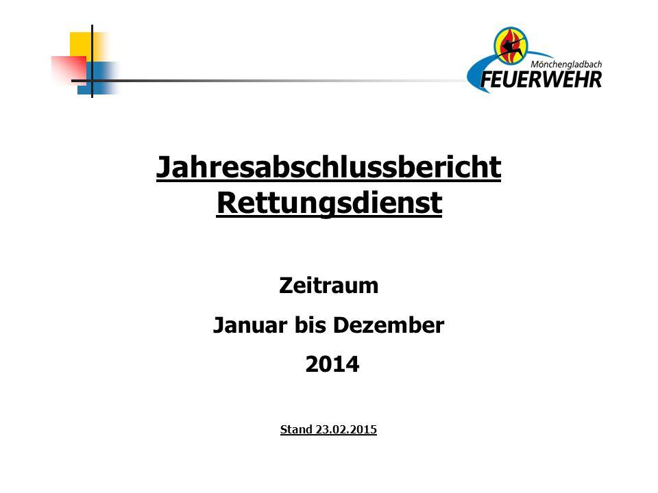 Jahresabschlussbericht Rettungsdienst Zeitraum Januar bis Dezember 2014 Stand 23.02.2015