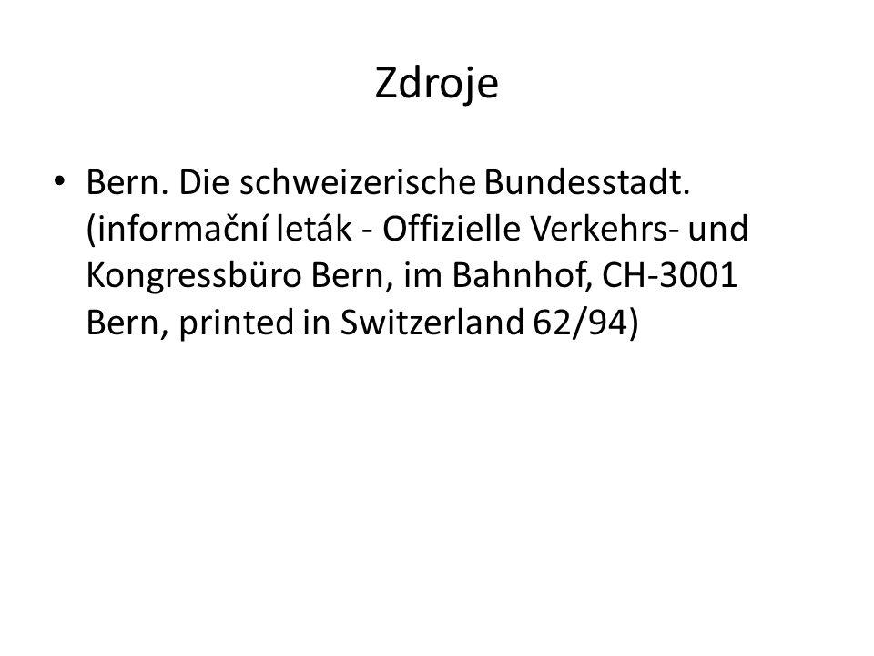 Zdroje Bern. Die schweizerische Bundesstadt.