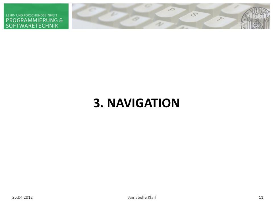 25.04.2012Annabelle Klarl11 3. NAVIGATION