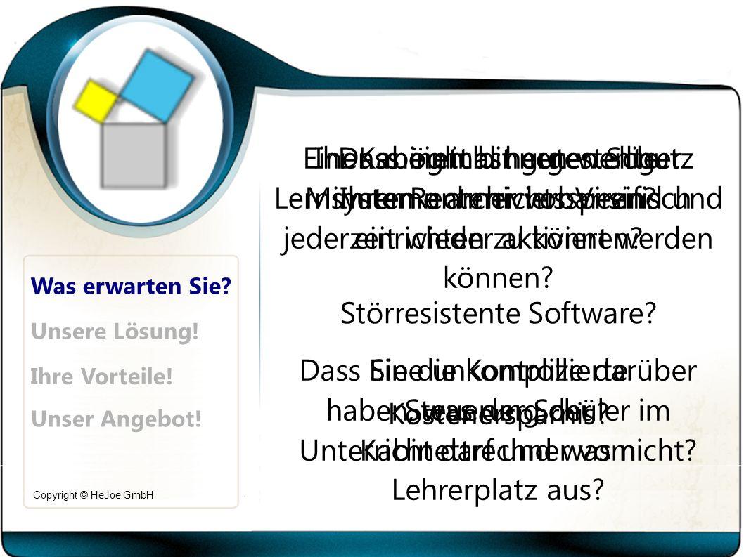 Copyright © HeJoe GmbH Was erwarten Sie.