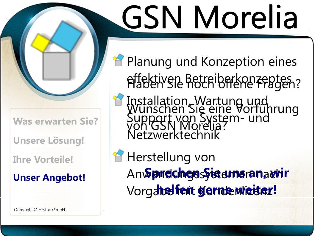 Copyright © HeJoe GmbH Was erwarten Sie. Unsere Lösung.