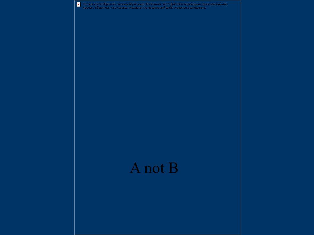 A not B