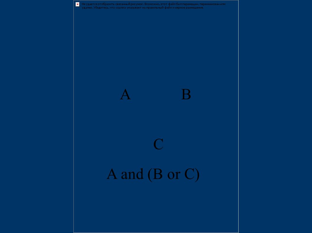 A and (B or C) AB C