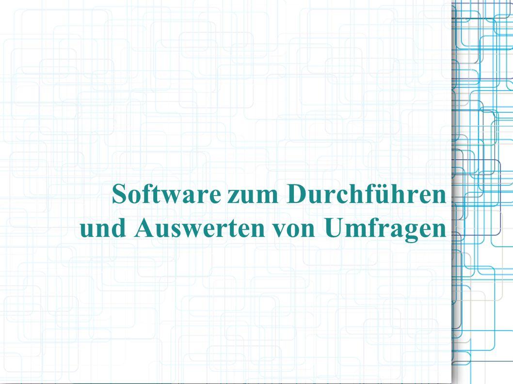 Software zum Durchführen und Auswerten von Umfragen
