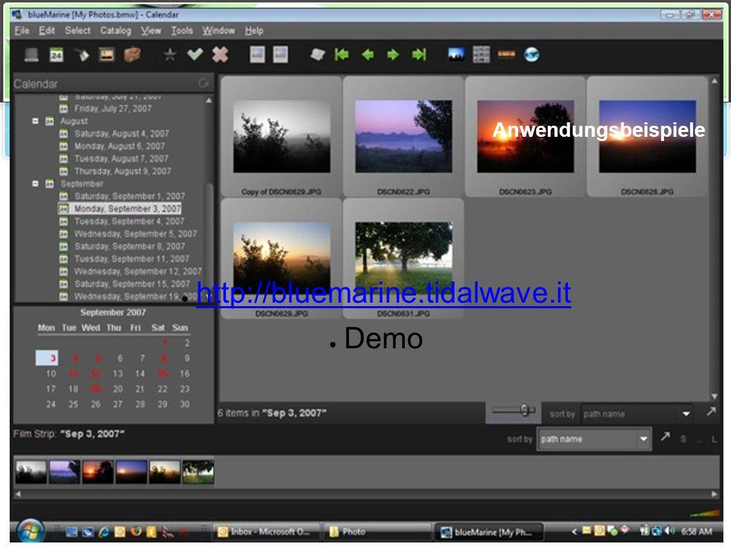 Source Talk Tage 2008 NetBeans Rich Client Platform Anwendungsbeispiele ● http://bluemarine.tidalwave.it http://bluemarine.tidalwave.it ● Demo