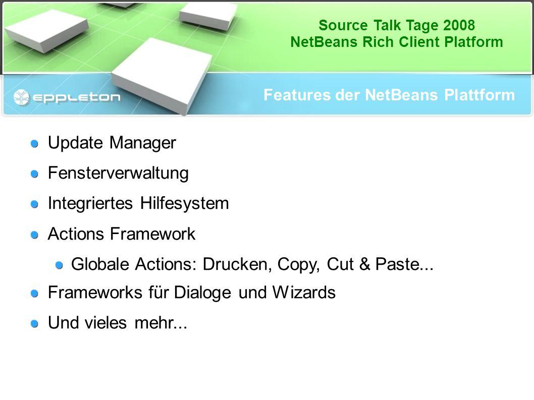 Source Talk Tage 2008 NetBeans Rich Client Platform Wo sind die Nachteile.