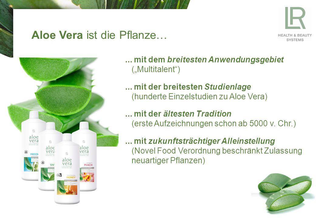 """Aloe Vera ist die Pflanze…... mit dem breitesten Anwendungsgebiet (""""Multitalent )..."""