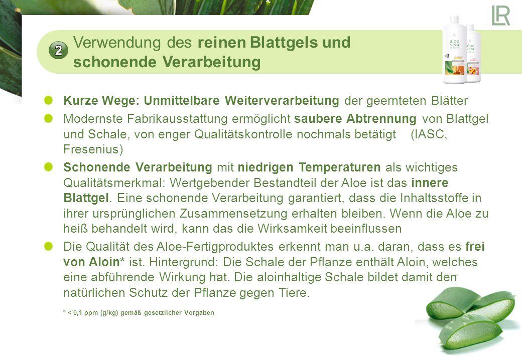 Die Herstellung des Fertigproduktes erfolgt ausschließlich in zertifizierten Betrieben in Deutschland.