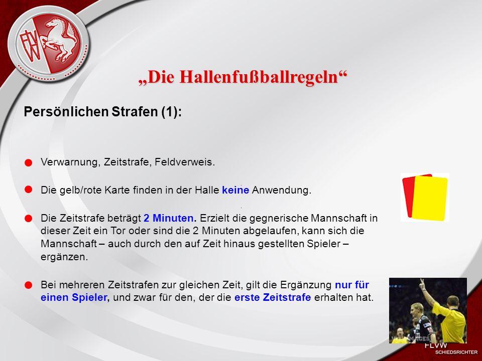 Heiko Schneider KSL Bochum FLVW Kreis Bochum www.kreis-bochum.de Persönlichen Strafen (1): Verwarnung, Zeitstrafe, Feldverweis.