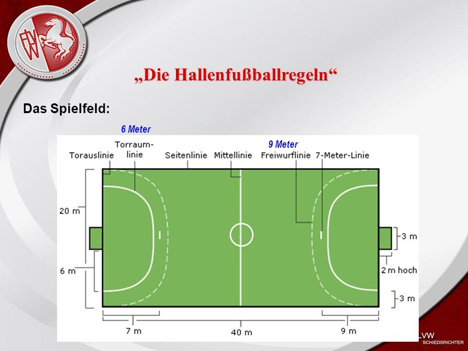 """Heiko Schneider KSL Bochum FLVW Kreis Bochum www.kreis-bochum.de Das Spielfeld: 9 Meter """"Die Hallenfußballregeln 6 Meter"""