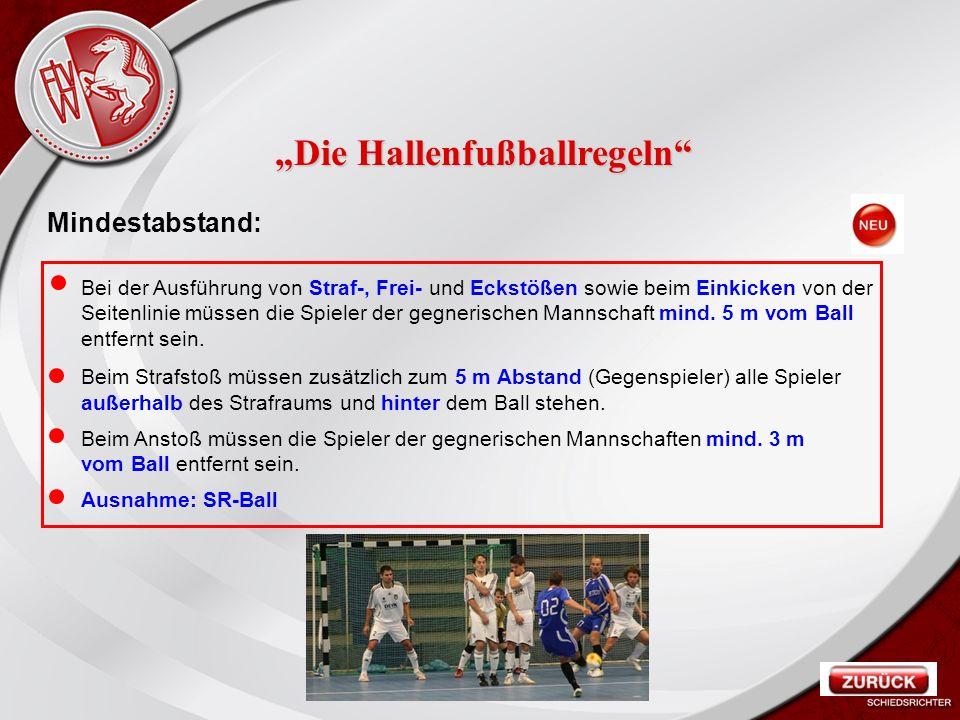 Heiko Schneider KSL Bochum FLVW Kreis Bochum www.kreis-bochum.de Mindestabstand: Bei der Ausführung von Straf-, Frei- und Eckstößen sowie beim Einkicken von der Seitenlinie müssen die Spieler der gegnerischen Mannschaft mind.