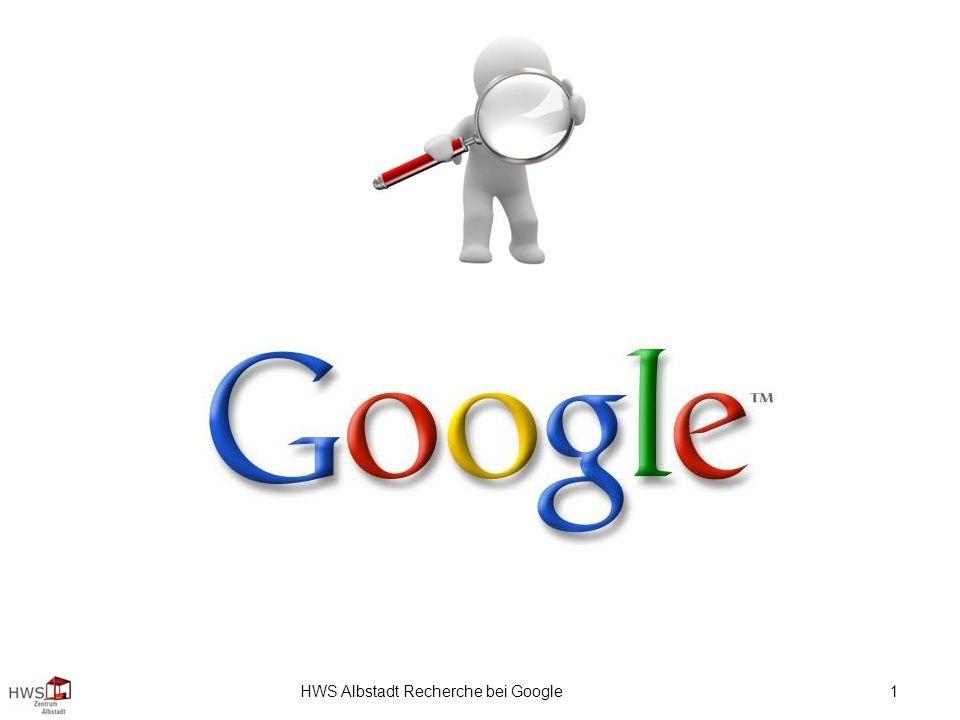 HWS Albstadt Recherche bei Google 1