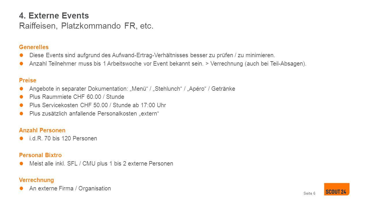 4. Externe Events Raiffeisen, Platzkommando FR, etc.