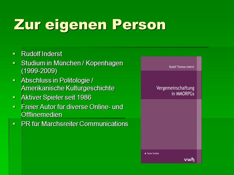 Zur eigenen Person  Rudolf Inderst  Studium in München / Kopenhagen (1999-2009)  Abschluss in Politologie / Amerikanische Kulturgeschichte  Aktive