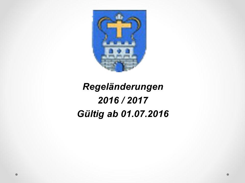 DFB Regeländerungen 2016 / 2017 Gültig ab 01.07.2016