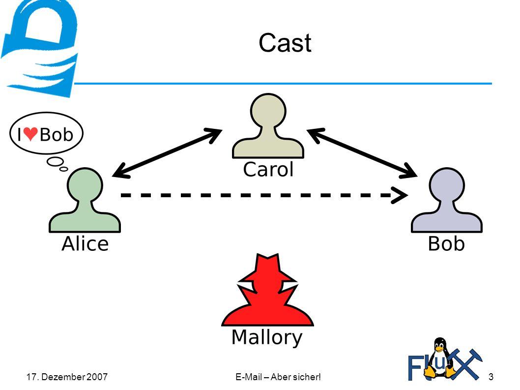 17. Dezember 2007E-Mail – Aber sicher!3 Cast