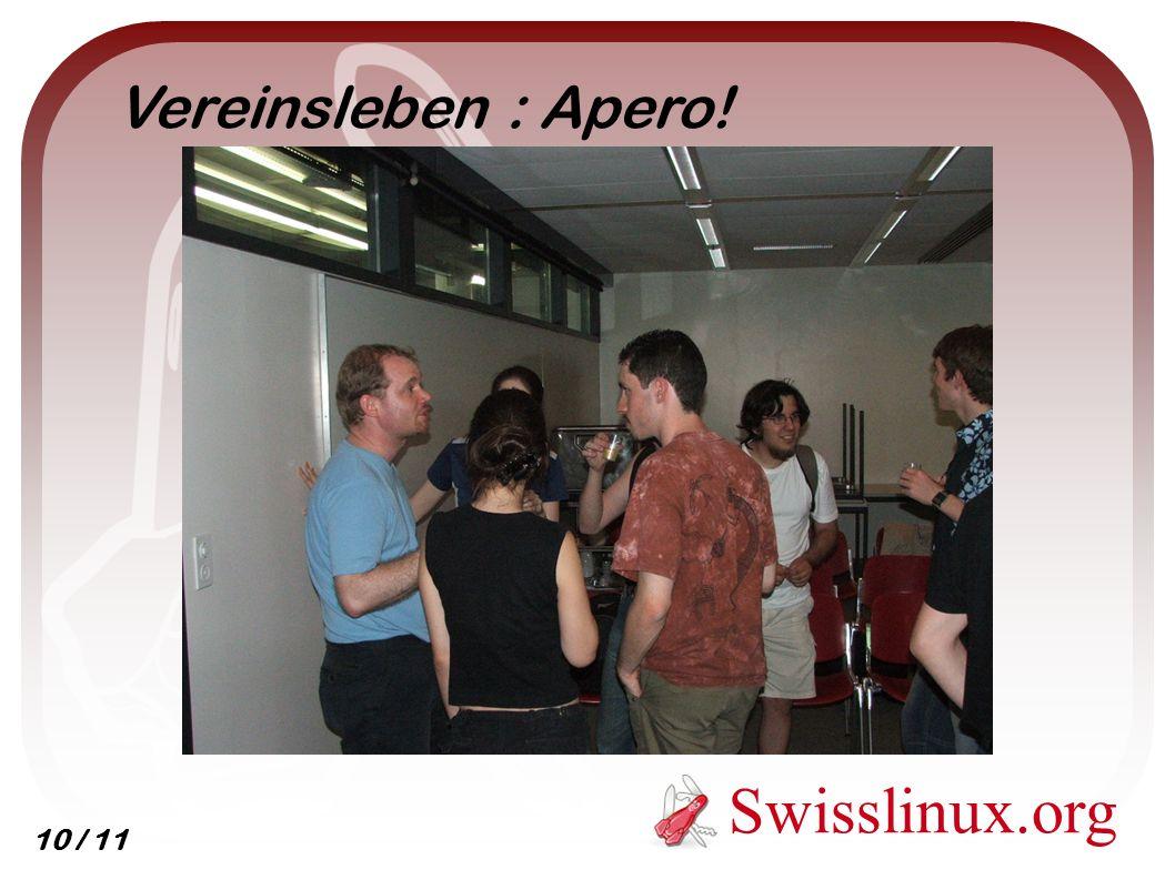 Swisslinux.org Vereinsleben : Apero! 10 / 11