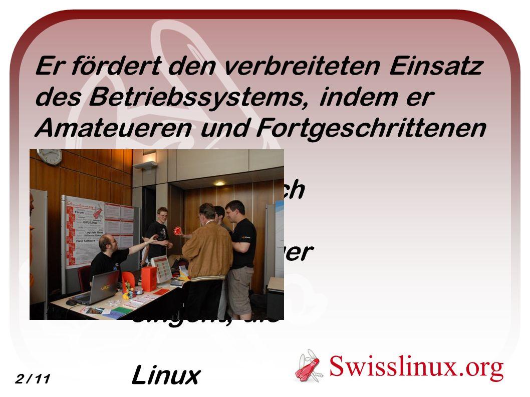 Er fördert den verbreiteten Einsatz des Betriebssystems, indem er Amateueren und Fortgeschrittenen hilft und auch auf Einsteiger eingeht, die Linux kennenlernen wollen.