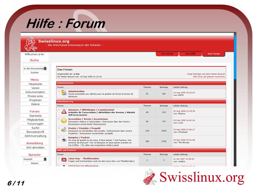 Swisslinux.org Dokumentation : Wiki 7 / 11