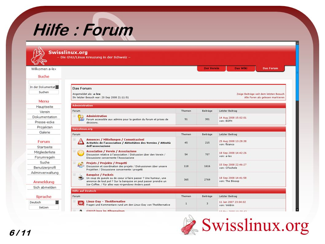 Swisslinux.org Hilfe : Forum 6 / 11