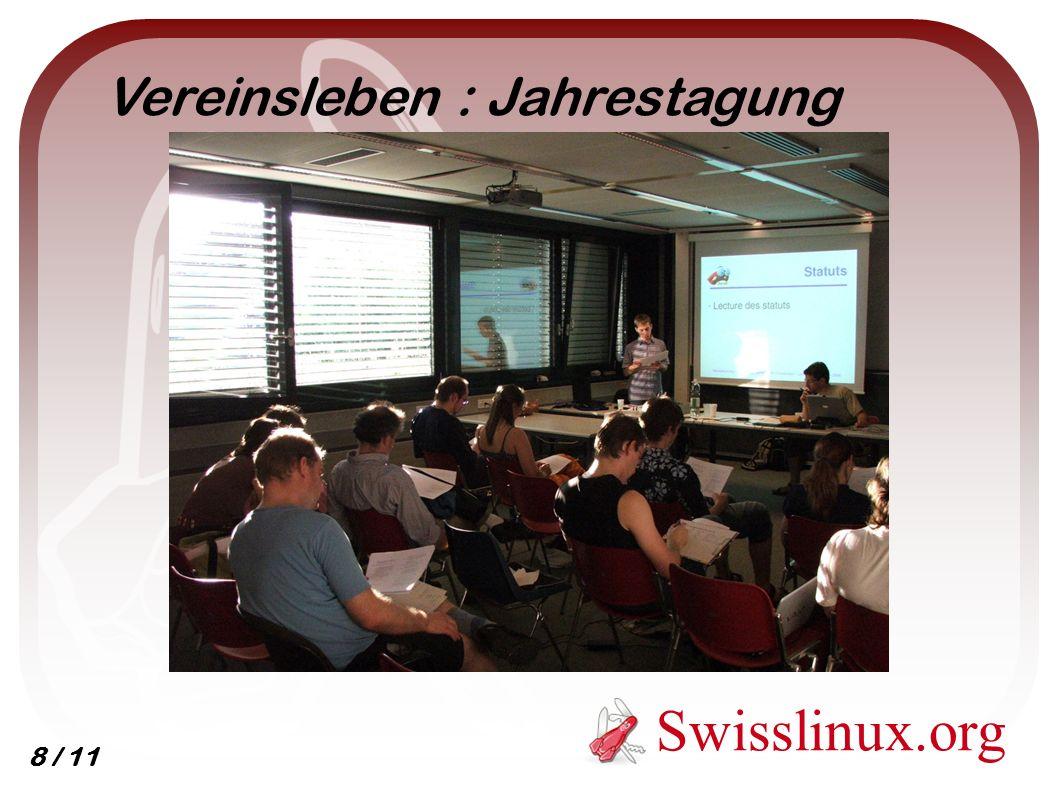 Swisslinux.org Vereinsleben : Jahrestagung 8 / 11