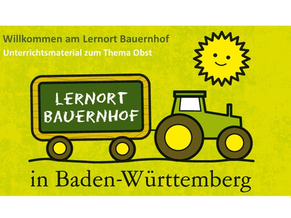 Willkommen am Lernort Bauernhof Unterrichtsmaterial zum Thema Obst