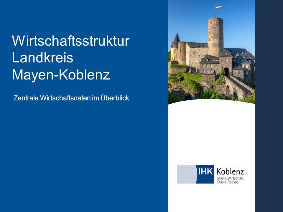 Zentrale Wirtschaftsdaten im Überblick. Wirtschaftsstruktur Landkreis Mayen-Koblenz