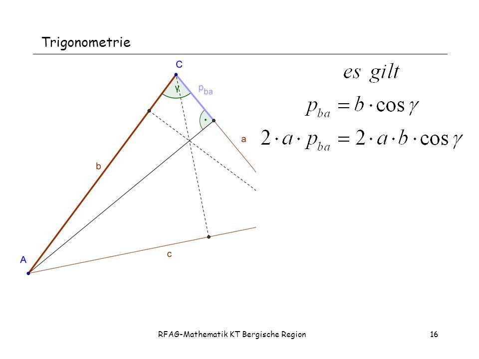RFAG-Mathematik KT Bergische Region16 Trigonometrie