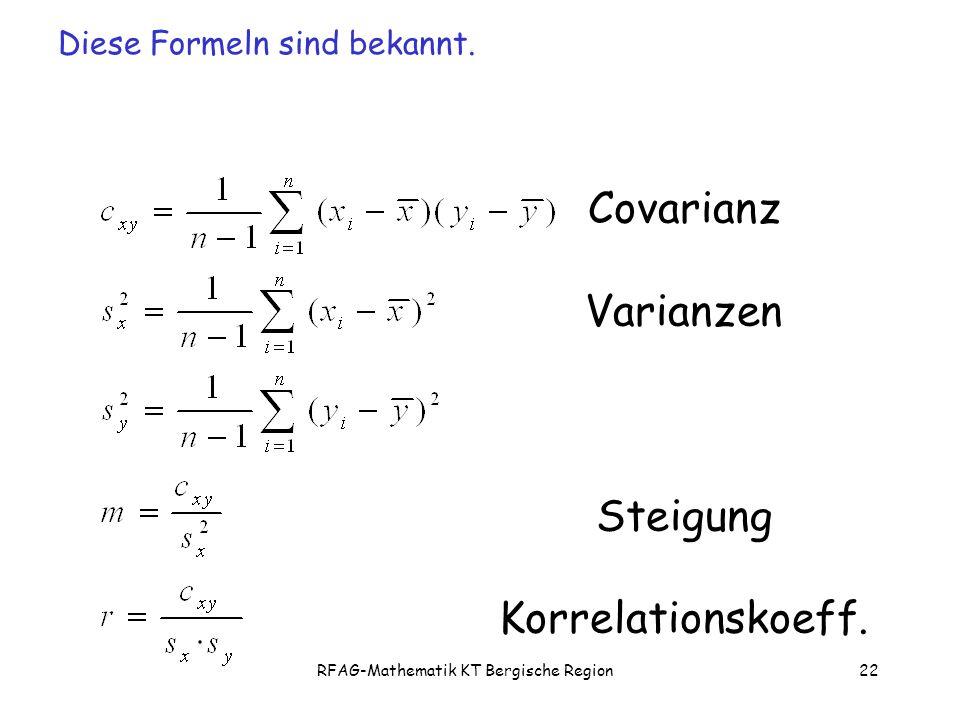 RFAG-Mathematik KT Bergische Region22 Covarianz Varianzen Steigung Korrelationskoeff.
