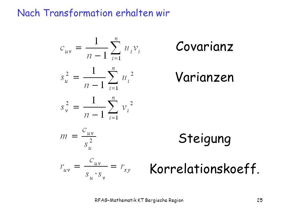 RFAG-Mathematik KT Bergische Region25 Covarianz Varianzen Steigung Korrelationskoeff.
