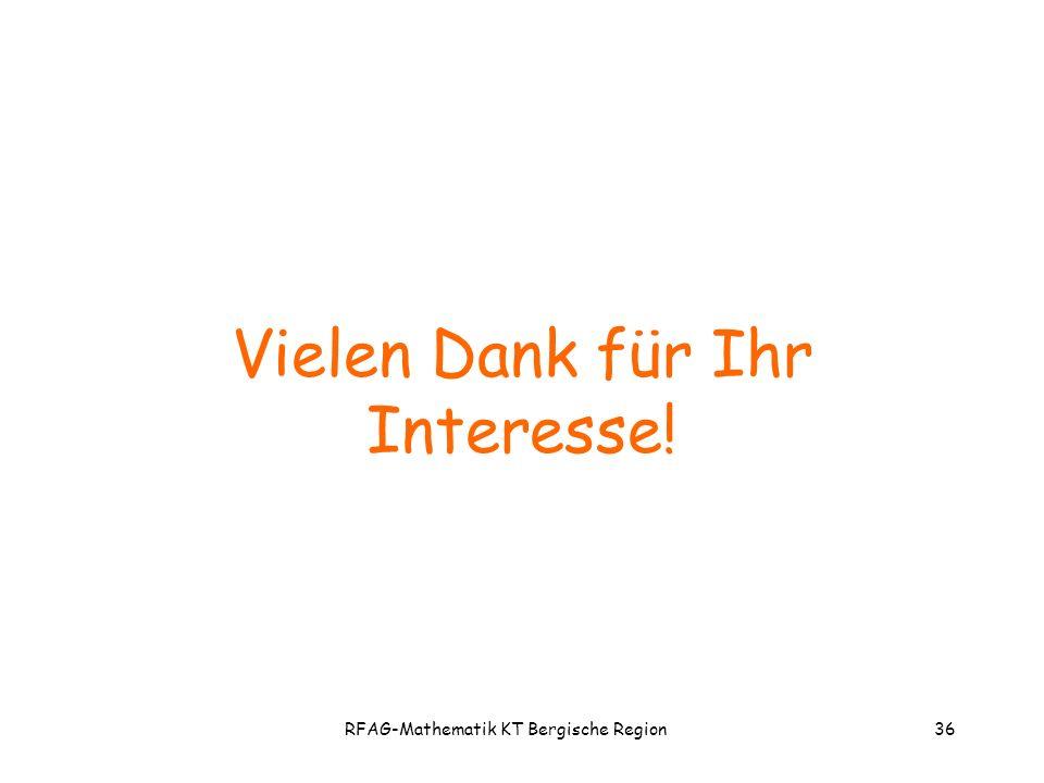 RFAG-Mathematik KT Bergische Region36 Vielen Dank für Ihr Interesse!