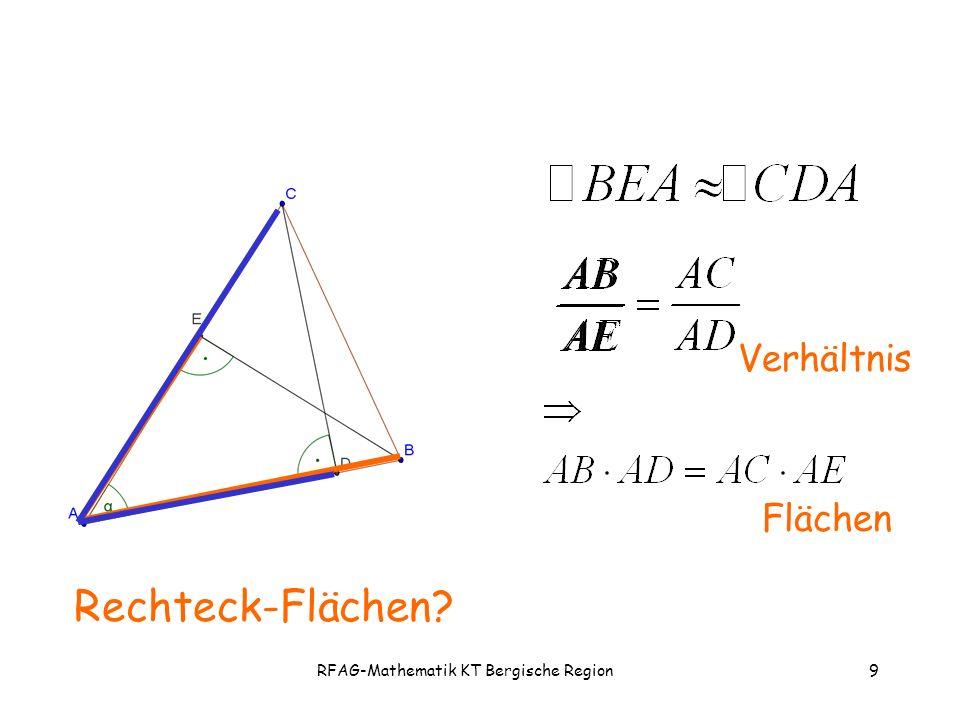RFAG-Mathematik KT Bergische Region9 Rechteck-Flächen Flächen Verhältnis