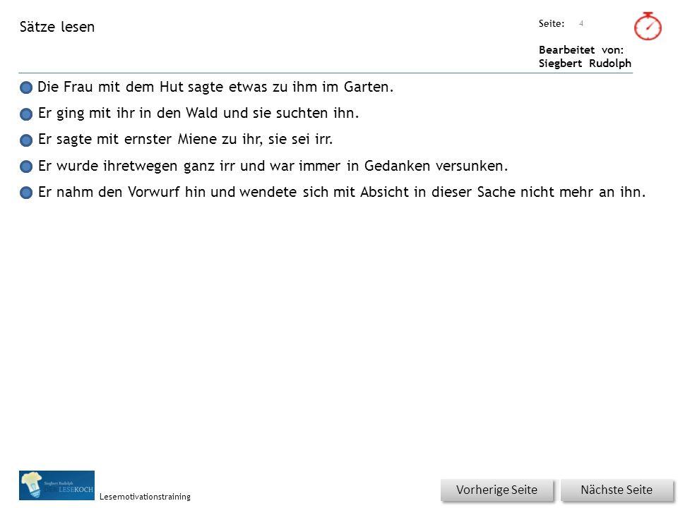 Übungsart: Seite: Bearbeitet von: Siegbert Rudolph Lesemotivationstraining 5 Du bist der Lehrer – korrigiere die Fehler.