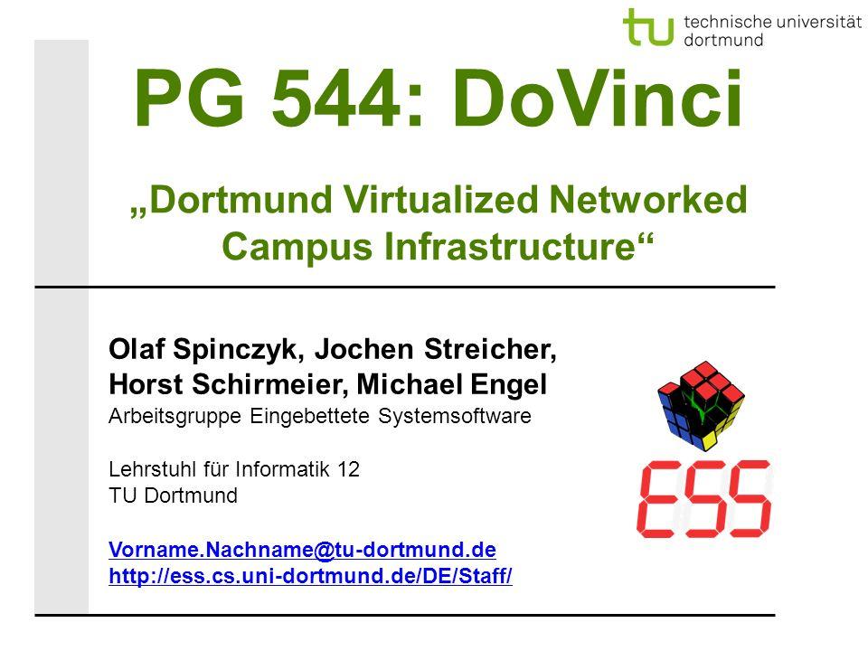 PG 544: DoVinci – Erstes Treffen (14.07.2009) 22 Agenda ● Wer ist wer.