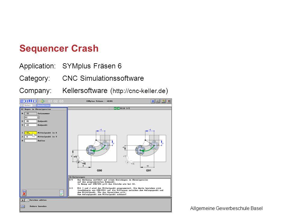 Sequencer Crash Allgemeine Gewerbeschule Basel