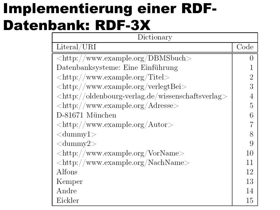 Implementierung einer RDF- Datenbank: RDF-3X