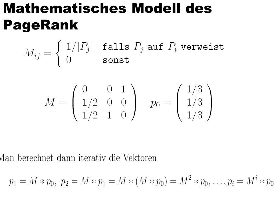 Mathematisches Modell des PageRank