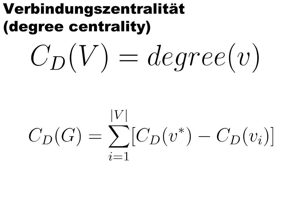 Verbindungszentralität (degree centrality)
