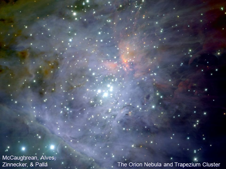 McCaughrean, Alves, Zinnecker, & Palla The Orion Nebula and Trapezium Cluster