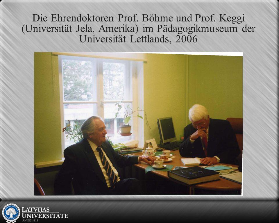 Die Ehrendoktoren Prof.Böhme und Prof.