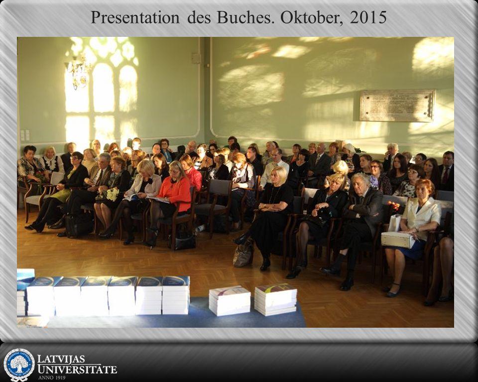 Presentation des Buches. Oktober, 2015