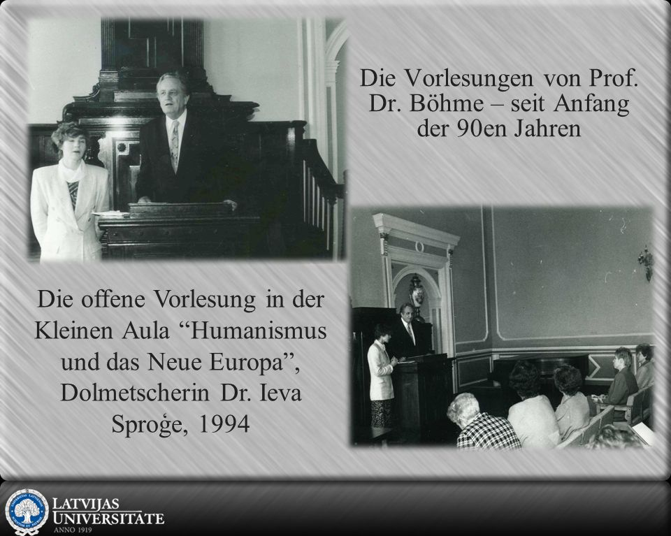 Abschlussfeier für Magister der Pädagogik, 1993