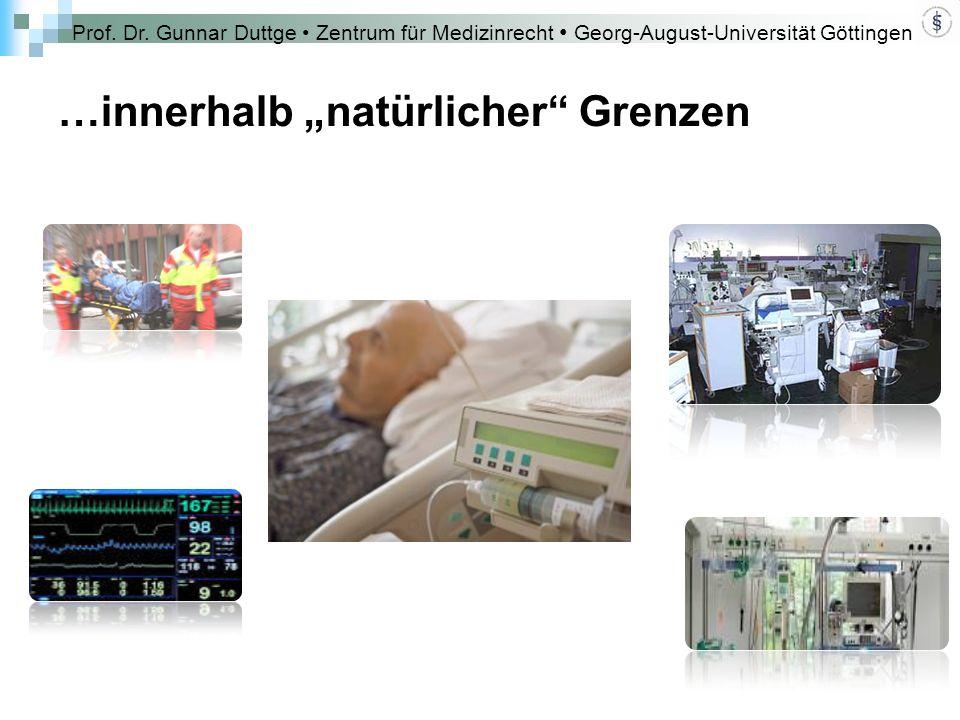 """Prof. Dr. Gunnar Duttge Zentrum für Medizinrecht Georg-August-Universität Göttingen …innerhalb """"natürlicher"""" Grenzen"""