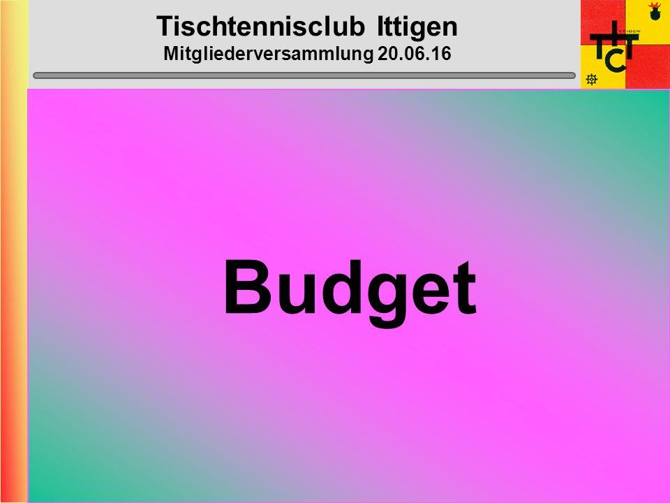 Tischtennisclub Ittigen Mitgliederversammlung 20.06.16 Anträge Mitglieder Es liegen momentan keine Anträge vor.