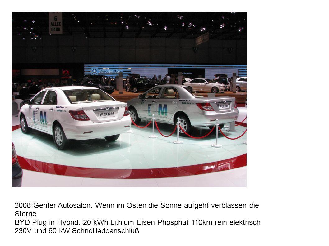 2008 Genfer Autosalon: Wenn im Osten die Sonne aufgeht verblassen die Sterne BYD Plug-in Hybrid.