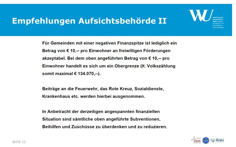 Empfehlungen Aufsichtsbehörde II SEITE 12