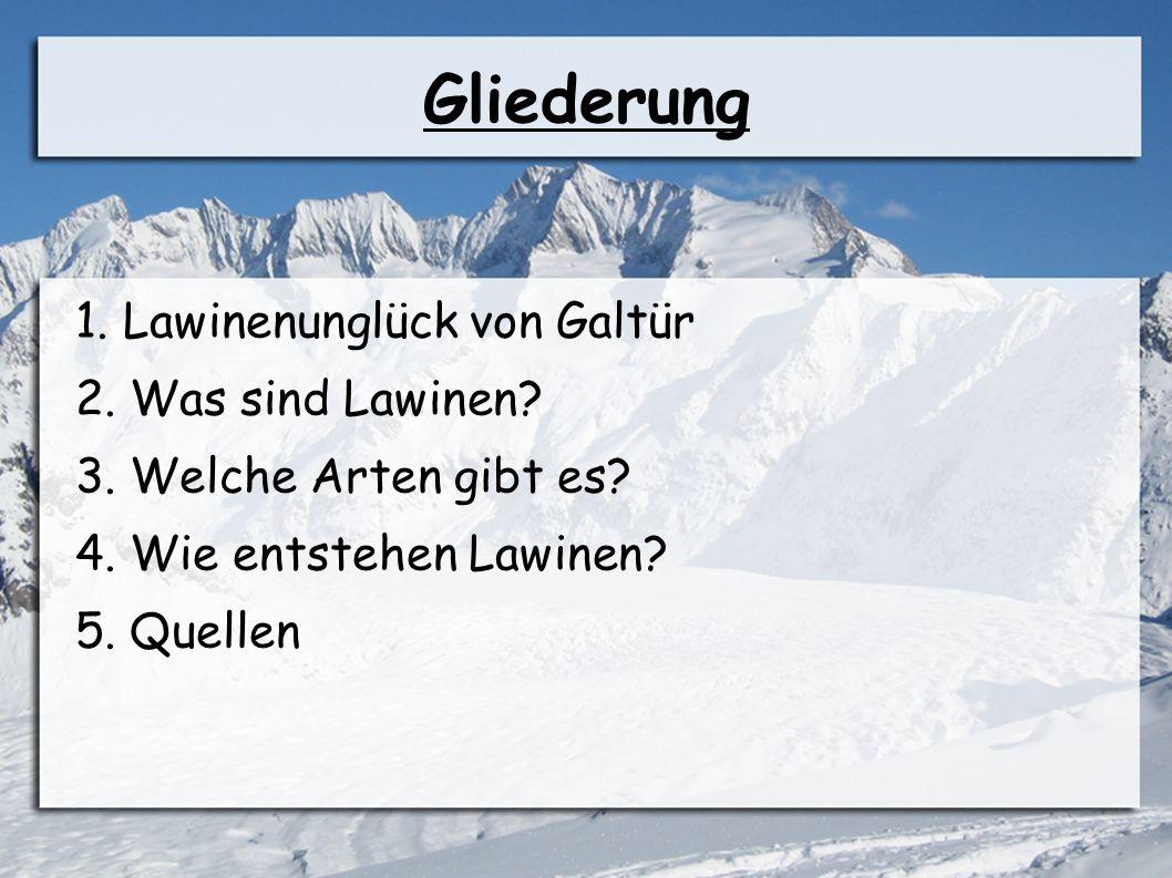 Lawinenunglück in Galtür ● Wo.Galtür (Tirol, Österreich) ● Wann.