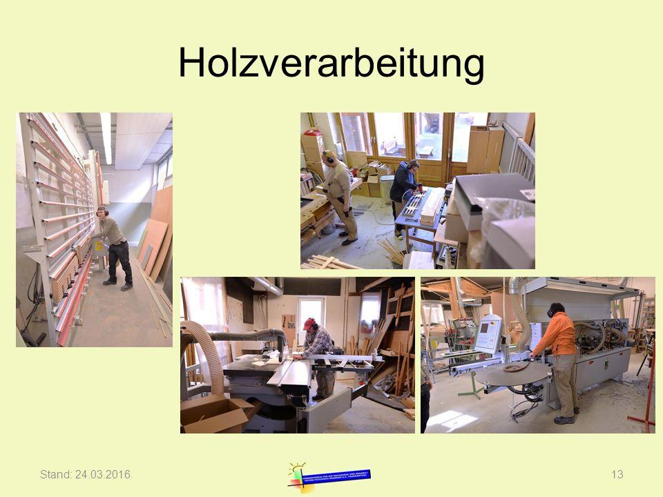 Holzverarbeitung Stand: 24.03.201613